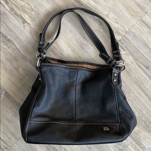 The Sak Black Soft Pebbled Leather Tote Bag